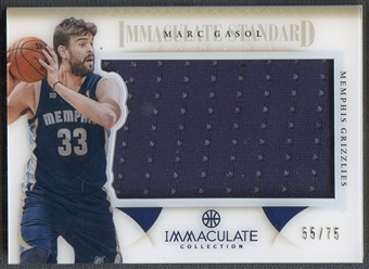 2012/13 Immaculate Collection #MG Marc Gasol Immaculate Standard Jersey #55/75