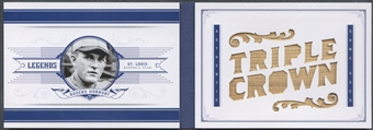 2012 Panini National Treasures #6 Rogers Hornsby Legends Jumbo Materials Stat Bat #02/10