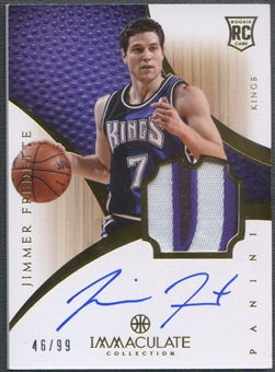 2012/13 Immaculate Collection #110 Jimmer Fredette Rookie Patch Auto #46/99