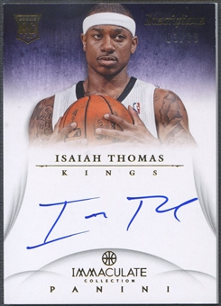 2012/13 Immaculate Collection #IT Isaiah Thomas Inscriptions Rookie Auto #03/99