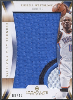2012/13 Immaculate Collection #RW Russell Westbrook Numbers Patch #08/13