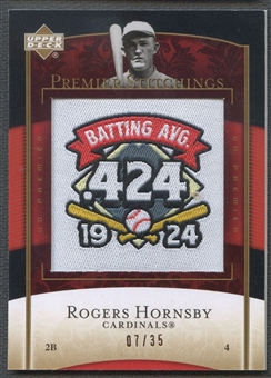 2007 Upper Deck Premier #28 Rogers Hornsby Premier Stitchings Patch #07/35