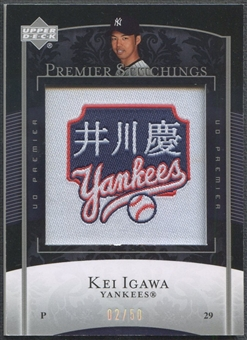 2007 Upper Deck Premier #KI Kei Igawa Premier Stitchings Patch #02/50