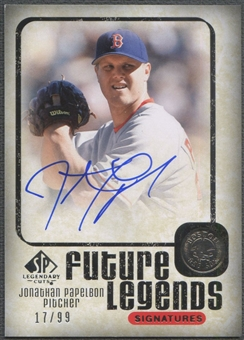 2008 SP Legendary Cuts #JP Jonathan Papelbon Future Legends Signatures Auto #17/99