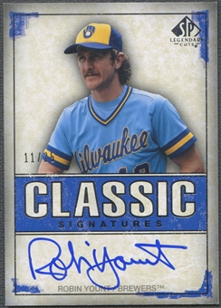 2008 SP Legendary Cuts #RY Robin Yount Classic Signatures Auto #11/25