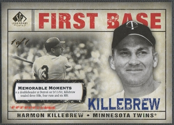 2008 SP Legendary Cuts #173 Harmon Killebrew Memorable Moments #1/1