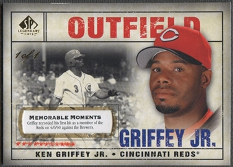 2008 SP Legendary Cuts #1 Ken Griffey Jr. Memorable Moments #1/1