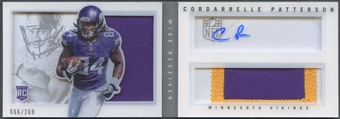 2013 Panini Playbook #204 Cordarrelle Patterson Signatures Silver Rookie Patch Auto #066/269