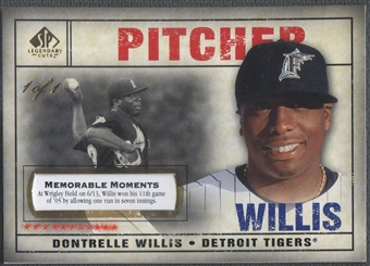 2008 SP Legendary Cuts #95 Dontrelle Willis Memorable Moments #1/1