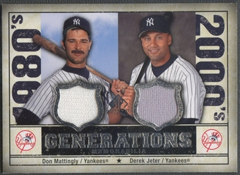 2008 SP Legendary Cuts #DD Don Mattingly & Derek Jeter Generations Dual Memorabilia Jersey