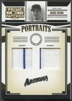 2005 Prime Patches #17 Richie Sexson Portraits Double Swatch Jersey #4/8