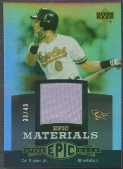 2006 Upper Deck Epic #CR3 Cal Ripken Jr. Materials Grey Jersey #38/40
