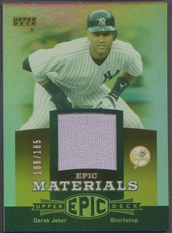2006 Upper Deck Epic #DJ1 Derek Jeter Materials Dark Orange Jersey #166/185
