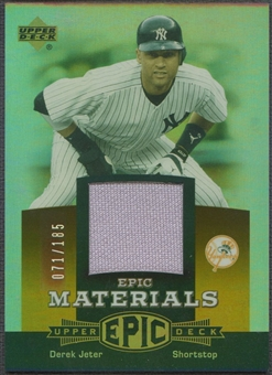 2006 Upper Deck Epic #DJ1 Derek Jeter Materials Dark Orange Jersey #071/185