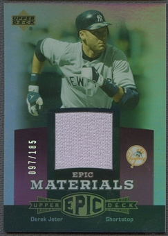 2006 Upper Deck Epic #DJ3 Derek Jeter Materials Light Purple Jersey #097/185