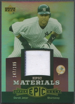 2006 Upper Deck Epic #DJ1 Derek Jeter Materials Light Purple Jersey #147/185