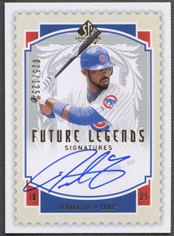 2009 SP Legendary Cuts #DL Derrek Lee Future Legends Signatures Auto #025/125