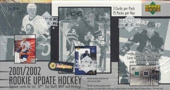 2001/02 Upper Deck Rookie Update Hockey Hobby Box