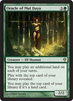 Magic the Gathering Zendikar Single Oracle of Mul Daya FOIL - NEAR MINT (NM)