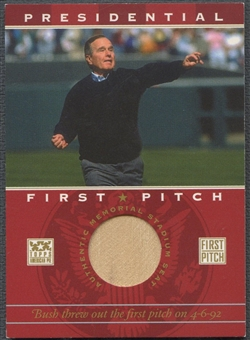 2002 Topps American Pie #GHWB George H.W. Bush First Pitch Seat Relic