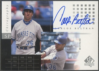 2000 SP Authentic #CBE Carlos Beltran Chirography Auto
