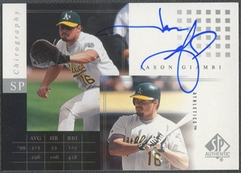 2000 SP Authentic #JG Jason Giambi Chirography Auto