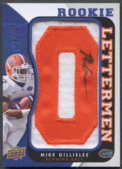 "2013 Upper Deck #RLGI Mike Gillislee Rookie Letter ""O"" Patch Auto #27/75"