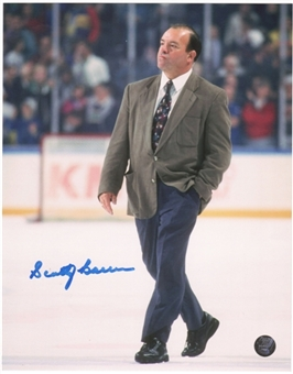 Scotty Bowman Autographed Buffalo Sabres 8x10 Hockey Photo (Ice)
