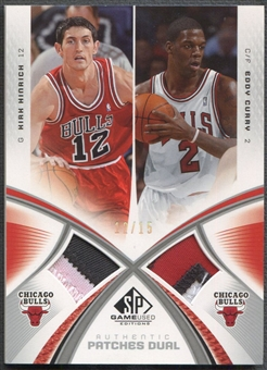 2005/06 SP Game Used #HC Kirk Hinrich & Eddy Curry Authentic Fabrics Dual Patch #12/15