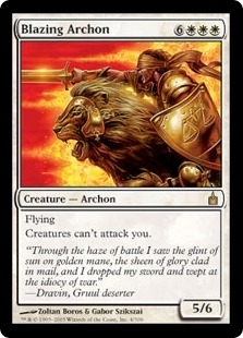 Magic the Gathering Ravnica Single Blazing Archon - SLIGHT PLAY (SP)