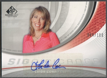 2005/06 SP Game Used #LC Linda Cohn SIGnificance Auto #064/100