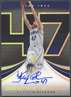 2005/06 SP Game Used #AK0 Andrei Kirilenko Signature Numbers Auto #06/47