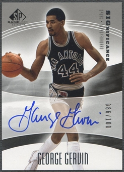 2004/05 SP Game Used #GG George Gervin SIGnificance Auto #086/100