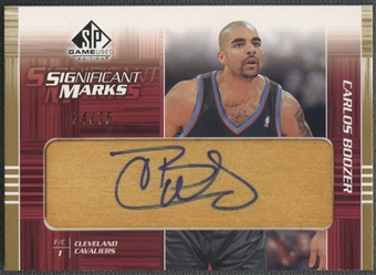 2003/04 SP Game Used #BOSM Carlos Boozer SIGnificant Marks Auto #24/75