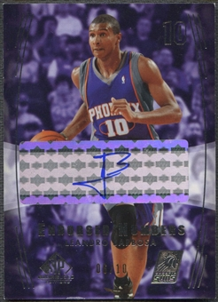 2004/05 SP Game Used #LE Leandro Barbosa Endorsed Numbers Auto #06/10