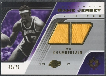 2004/05 Ultimate Collection #WC Wilt Chamberlain Game Jerseys Limited Jersey #36/75