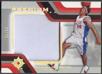 2004/05 Ultimate Collection #SL Shaun Livingston Premium Patch #29/75