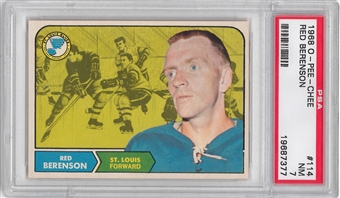 1968/69 O-Pee-Chee Hockey #114 Red Berenson PSA 7 (NM) *7377