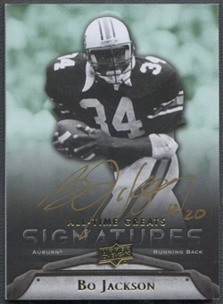 2012 Upper Deck All-Time Greats #GABJ2 Bo Jackson Signatures Auto #12/20