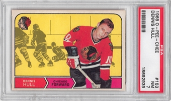 1968/69 O-Pee-Chee Hockey #153 Dennis Hull PSA 7 (NM) *2939