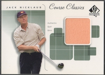 2002 SP Authentic #CCJN Jack Nicklaus Course Classics Game-Used Shirt