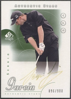 2001 SP Authentic #62 Sergio Garcia AS Rookie Auto (Faded) #896/900
