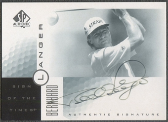 2001 SP Authentic #BL Bernhard Langer Sign of the Times Auto (Faded)