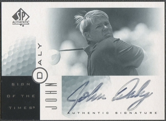 2001 SP Authentic #JD John Daly Sign of the Times Auto (Faded)