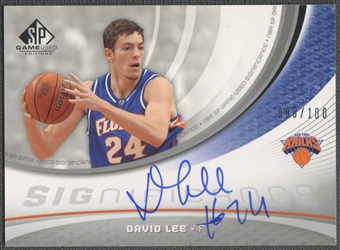 2005/06 SP Game Used #DL David Lee SIGnificance Rookie Auto #098/100