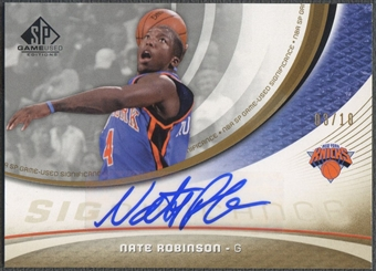 2005/06 SP Game Used #NR Nate Robinson SIGnificance Rookie Auto #03/10