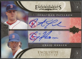 2006 Exquisite Collection #PH Craig Hansen & Jonathan Papelbon Ensemble Endorsements Dual Auto #17/20
