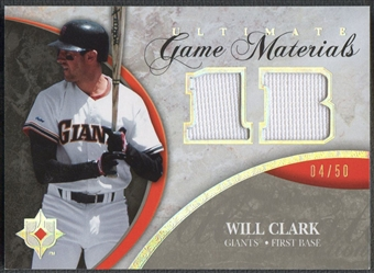 2006 Ultimate Collection #WC Will Clark Game Materials Jersey #04/50