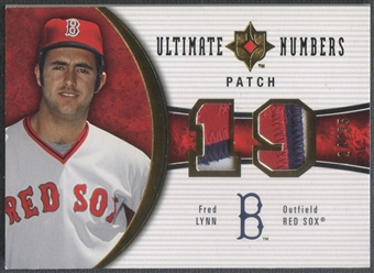 2006 Ultimate Collection #LY Fred Lynn Ultimate Numbers Patch #24/35