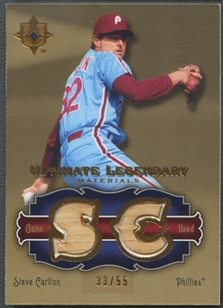 2006 Ultimate Collection #SC Steve Carlton Legendary Materials Bat #33/55